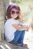 Ребенок летних каникулов стоковые фотографии rf