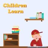 ребенок делая домашнюю работу Стоковые Фотографии RF
