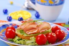 ребенок завтрака стоковое изображение rf