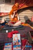 Ребенок индусское Sadhu, Gangasagar, Kolkata стоковое изображение