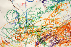 ребенок искусства Иллюстрация штока