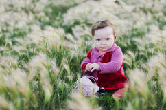 Ребенок исследует природу Стоковое Изображение RF