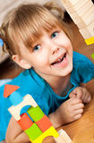 Ребенок и блоки Стоковая Фотография