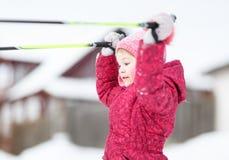 Ребенок идет кататься на лыжах Стоковая Фотография RF