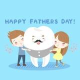 Ребенок и зуб шаржа Стоковые Фотографии RF
