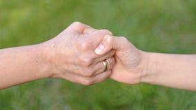 Ребенок и мать держа руки Стоковая Фотография RF