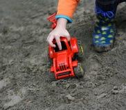 Ребенок и машина Стоковое Фото