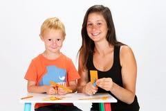Ребенок и няня стоковое изображение