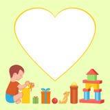 Ребенок и подарки стоковые фотографии rf