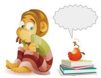 Ребенок и червь Бесплатная Иллюстрация