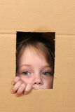 ребенок коробки Стоковые Фото