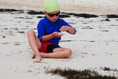 Ребенок на пляже Стоковое Изображение RF