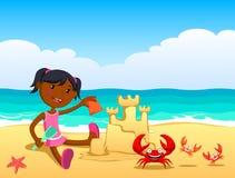 Ребенок на пляже Стоковые Изображения RF