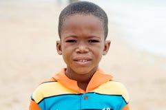 Ребенок на пляже стоковое изображение