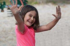 Ребенок на спортивной площадке Стоковое фото RF