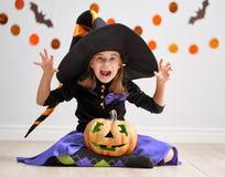 Ребенок на хеллоуине Стоковое Фото