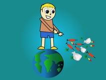 ребенок не дает наркотики гловальному нет Иллюстрация вектора