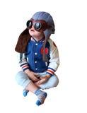 Ребенок нося шлем и пилот солнечных очков Стоковые Фото