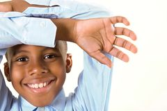 ребенок обрамляя усмешку s Стоковые Изображения RF