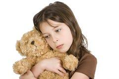 ребенок она teddybear стоковое изображение rf