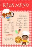 Ребенок плаката для кафа меню Стоковое Фото