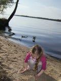 ребенок пляжа Стоковая Фотография RF