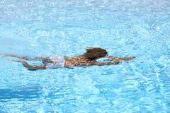 ребенок подводный Стоковое Изображение