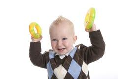 ребенок показывая игрушки Стоковое Фото