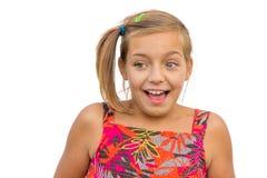 Ребенок показывая эмоции ободрения Стоковая Фотография