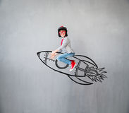 Ребенок претендует быть бизнесменом Стоковые Фото