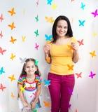 Ребенок ребенк матери и дочери Стоковое Фото