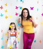 Ребенок ребенк матери и дочери Стоковое Изображение