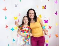 Ребенок ребенк матери и дочери Стоковая Фотография
