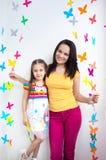 Ребенок ребенк матери и дочери Стоковая Фотография RF