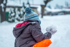 Ребенок, снег, зима Стоковое фото RF