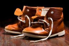 ребенок старый s ботинка Стоковая Фотография