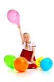 Ребенок с воздушными шарами Стоковое Изображение RF