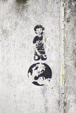 Ребенок с глобусом Стоковые Фото