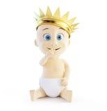 Ребенок с золотистой кроной иллюстрация штока