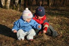 Ребенок с младенцем Стоковое Изображение RF