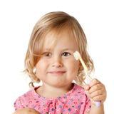 Ребенок с щеткой Стоковые Изображения