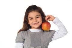 Ребенок с яблоком Стоковая Фотография