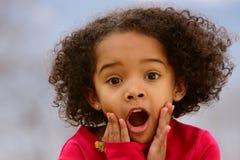 ребенок удивительно Стоковое фото RF