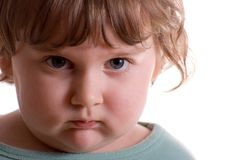 ребенок унылый Стоковое Изображение
