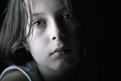 ребенок унылый Стоковое Фото