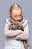 ребенок унылый Стоковые Фото