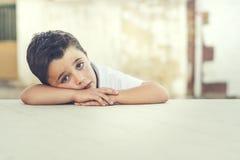 ребенок унылый Стоковая Фотография