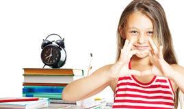 Ребенок любит школу Стоковые Фотографии RF