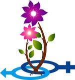 Ребенок blossoming логотип Стоковое фото RF