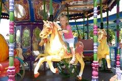 ребенок carousel Стоковая Фотография RF